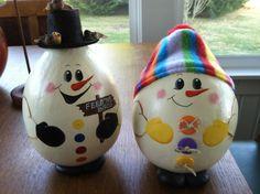 Snowmen Gourds