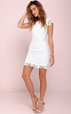 Hidden Talent Backless Ivory Lace Dress