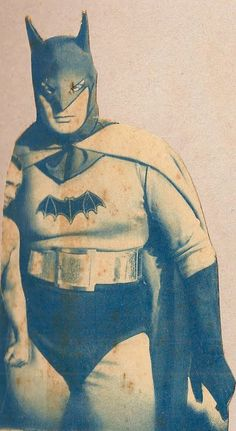 This is Lewis Wilson wearing the suit in the 1943 Batman serial.