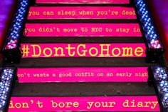 """Reason #3 why I dream about NYC: The nightlife.   (Taken from Cole Haan's """"Don't Go Home"""" show at Le Poisson Rouge)"""