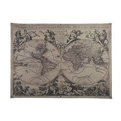Historical world map poster xxl wall picture decoration https oygroup retro vintage old world maplength 48xheight 36 i https gumiabroncs Choice Image