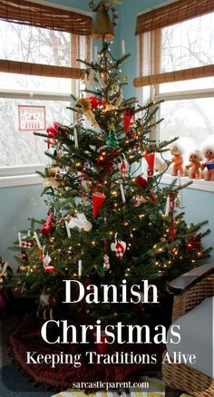 Danish Christmas - Keeping Traditions Alive The Sarcastic Parent Happy New Year Scandinavian Christmas Decorations, Scandi Christmas, Silver Christmas Decorations, Diy Christmas Lights, Danish Christmas, Hygge Christmas, All Things Christmas, Christmas Home, Vintage Christmas