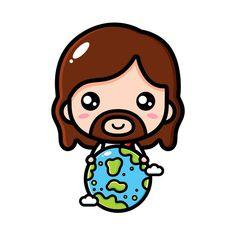 Gifs Cute, Jesus Cartoon, Jesus Drawings, Pictures Of Jesus Christ, Jesus Art, Family Illustration, Mary And Jesus, Christian Kids, Biblical Art