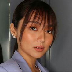 Short Hair With Bangs, Cute Hairstyles For Short Hair, Girl Short Hair, Straight Hairstyles, Short Hair Styles, Asian Bangs, Asian Hair, Kathryn Bernardo Hairstyle, Natural Straight Hair