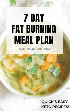 7 Day Fat Burning Meal Plan