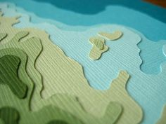 Custom topography of St. Thomas #paperart . That's how topography should be taught in school.