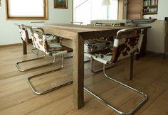 Arredi - Residenza privata. Tavolo in Rovere Antico 1°patina.