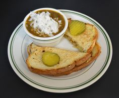 Make sure you come in for lunch and try the Ultimate Grill Cheese and Gumbo - blackened popcorn shrimp, two slices of American and shredded Gouda cheese grilled between two slices of buttered sourdough bread with cup of gumbo.