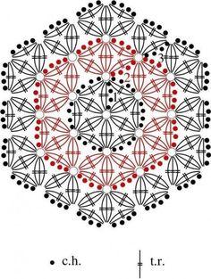 Resultado de imagem para flower of life crochet doily patterns Crochet Motif Patterns, Square Patterns, Crochet Diagram, Crochet Chart, Crochet Designs, Stitch Patterns, Crochet Diy, Crochet Home, Crochet Doilies