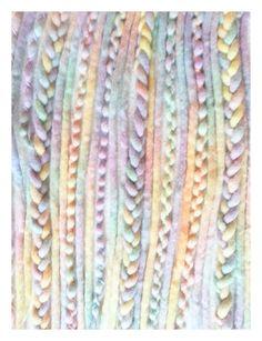 """35+Wool-Dreads+""""Pastell+Rainbow""""+von+KATINKA+auf+DaWanda.com"""