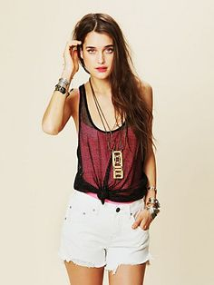Heavy Metal Lover Tank  http://www.freepeople.com/current-catalog/heavy-metal-lover-tank/ - I love all my t-shirts tied