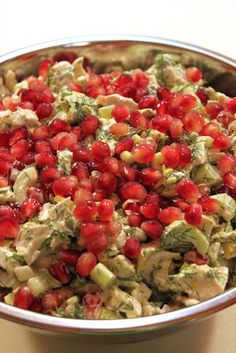 In Erika's Kitchen: Leftover turkey salad with dill and pomegranate