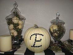 Nailhead Monogram Pumpkin