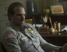 Chief Hopper, Stranger Things. In my fantasy mind, we're married, bickering a lot, and insanely happy!
