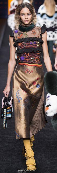 Fall 2016 Ready-to-Wear Fendi
