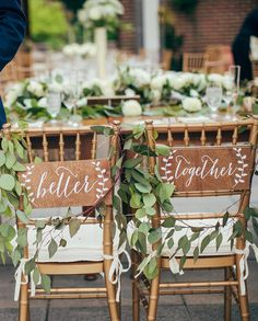 60+ Wedding Finds from Etsy Artists We Love | Wedding chair signs ...