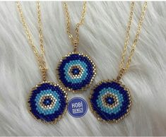 Nazar boncugu Seed Bead Bracelets, Seed Bead Jewelry, Bead Jewellery, Beaded Jewelry, Handmade Jewelry, Bead Embroidery Jewelry, Beaded Embroidery, Bracelet Patterns, Beading Patterns