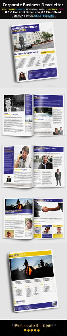 Starling 4-Page Business Newsletter Starling, Templates and Business - business newsletter