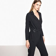 Pepe Jeans Womens Shirt Style Jumpsuit With Belt Grey Size M