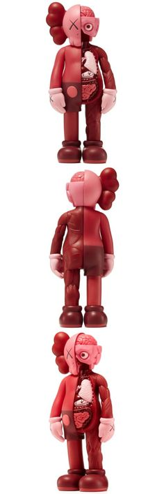 Designer and Urban Vinyl 158672: Medicom Kaws Companion Flayed Body Open Edition 2017 - Blush Red -> BUY IT NOW ONLY: $275 on eBay!