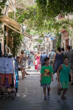 Agora in Myrina, Limnos, Greece
