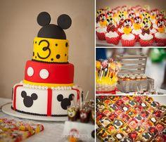 bolo de aniversario mickey