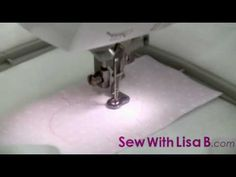 "Demonstration - ""How to Machine Embroider an Applique design"" by Children's Embroidery Designer Lisa B. from SewWithLisaB.com Applique embroidery uses a combination of fabric and fill embroidery. You will need an embroidery machine, the fabric you wish to applique upon secured in a hoop, the threads, a pair of scissors and the fabric for the a..."