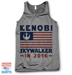 Kenobi / Skywalker 2016 This design is printed on a 100% ring-spun cotton T Shirt right here in the USA. It's got a Super Soft Feeland the PerfectClassic fit.