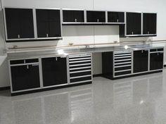 Moduline shop storage cabinets
