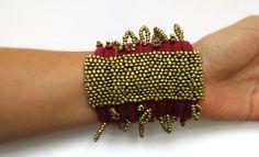 GarnetGold Cuff bracelet | leFilomille