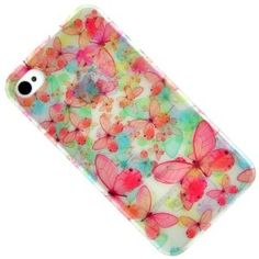Luminous Colourful Butterfly Serial Hard Case Protector Cover for iPhone 4 4G 4S  $0.06