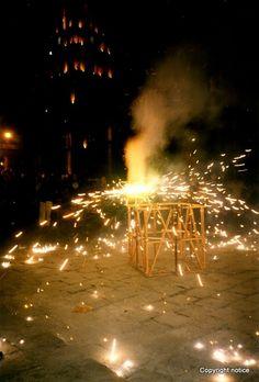 Fireworks at the Fiesta de San Miguel - San Miguel de Allende, Mexico