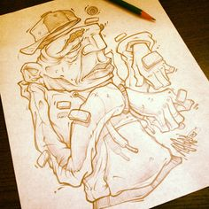 LUNCH SCRIBBLES 2 by Absorb81 - Craig Patterson, via Behance