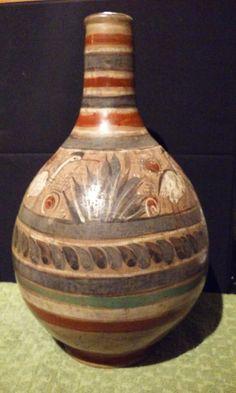 Vase Amado Galvan tonola Burninshed Pottery Mexico