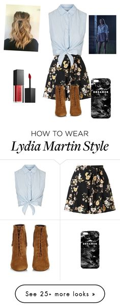 """Lydia Martin get the look"" by facummings on Polyvore featuring Miss Selfridge, Topshop, Yves Saint Laurent, Mr. Gugu & Miss Go and Smashbox"