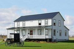 Typically Amish and German Baptist homes do not have adornments in  the home such as curtains nor blinds