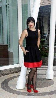 Audrey's Top of the A-line Dress in Black