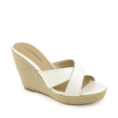 City Classified Mixer-H white platform slip on espadrille wedge $12