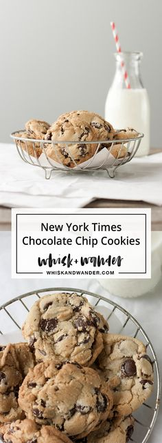 Looking to make a batch of showstopper Chocolate Chip Cookies? The famed New York Times Chocolate Chip Cookie is the best of the best! via @whiskwander