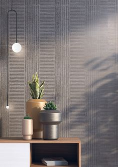 Wall tiles range Douai in size, is a white body tile with concretes like finish. White Bodies, Wall Tiles, Concrete, Planter Pots, Pasta, Collection, Environment, Cement, Wall Tile