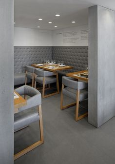 Floor tiles by Margres in Museu do Choco restaurant, Portugal.