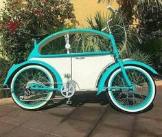 For someone like me who really wants a VW beetle but doesn't drive the ideal bike, although could mine have three wheels and a teardrop trailer on the back.