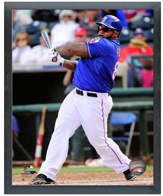 "Prince Fielder 2014 Texas Rangers - 11"" x 14"" Photo in a Glassless Sports Frame"