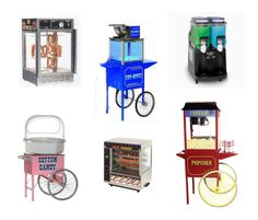 Concession Equipment you can rent for your special event.  Supplies sold separately.  wwww.PreferredPartyPlace.com