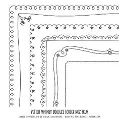 Doodle borders, frames and more!,  Go To www.likegossip.com to get more Gossip News!