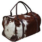 Cute cowhide duffle bag