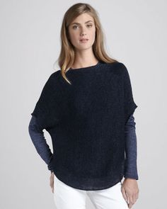 Loose Boat-Neck Sweater by Vince