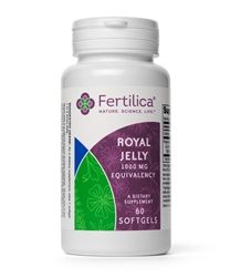 Fertilica Royal Jelly is a creamy substance produced by bees which is fed to the queen bee, transforming her into a queen whom will lay over 2,000 eggs per day. Rich in amino acids, lipids, vitamins, and proteins; royal jelly also contains vitamins D and E, and provides iron and calcium. Royal jelly has been used traditionally to support health and longevity. www.myinfertilityblog.com