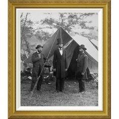 Global Gallery 'President Lincoln on the Battlefield of Antietam' by Alexander Gardner Framed Photographic Print