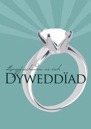 Cerdyn 'Llongyfarchiadau ar eich Dyweddiad' / 'Congratulations on your Engagement' card Engagement Cards, Engagement Rings, Card Sizes, Congratulations, Gems, Jewelry, Design, Enagement Rings, Wedding Rings